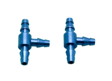"Conector ""T"" tubo color azul (2 pcs)"