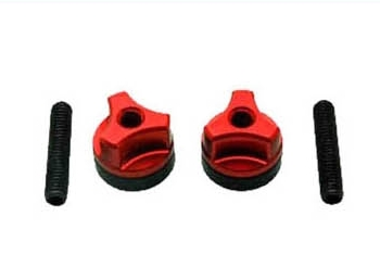 Wing bolts M6 Steel screw Red (2 pcs)