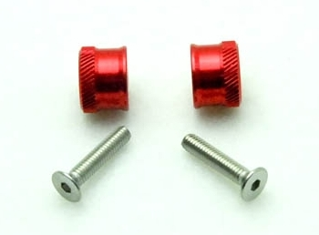 Wing bolts M3 Steel screw Red (2 pcs)