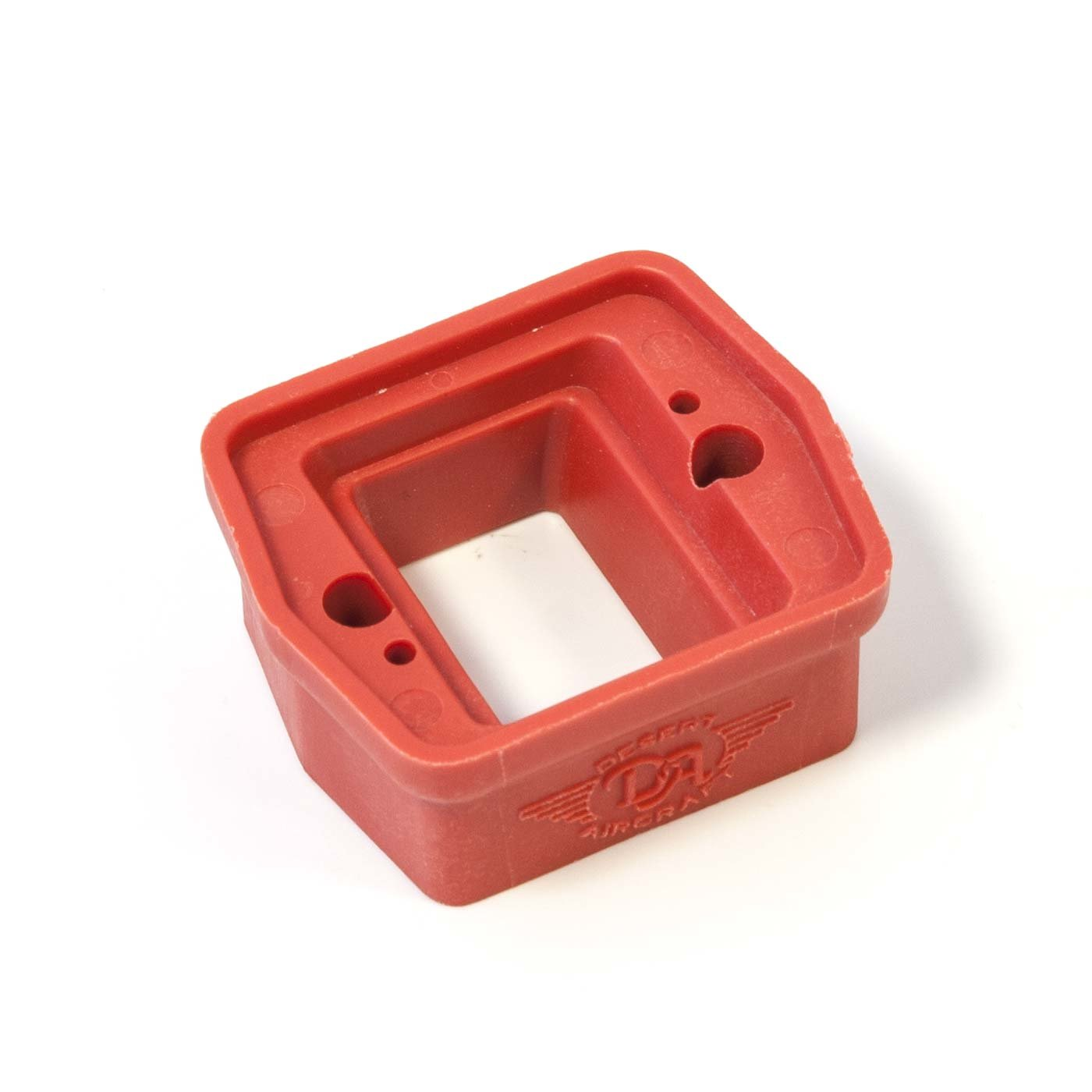 Carb spacer mounting block ,red DA-60/70