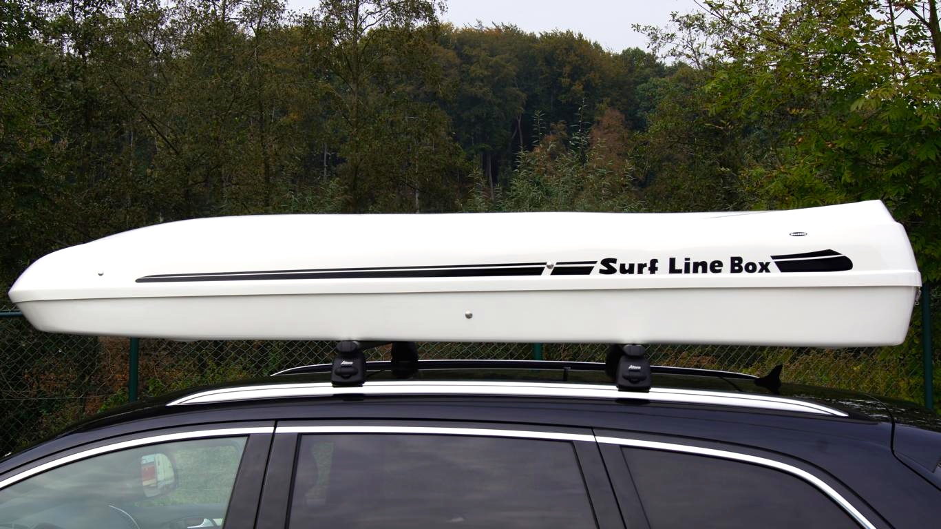 Big-Malibu XL Roof box with surfboard rack  GREY