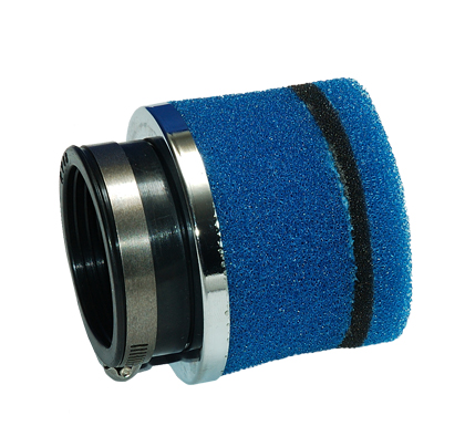 Foam air filter Ø 48 mm, blue