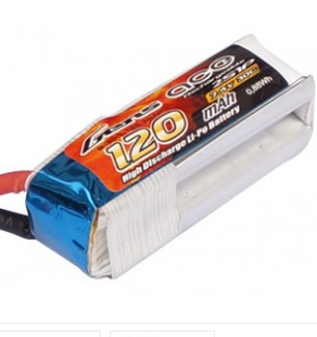 Battery LiPo GENS 120 mAh 2S 7.4V 30C (Gens Ace) F3P Pack