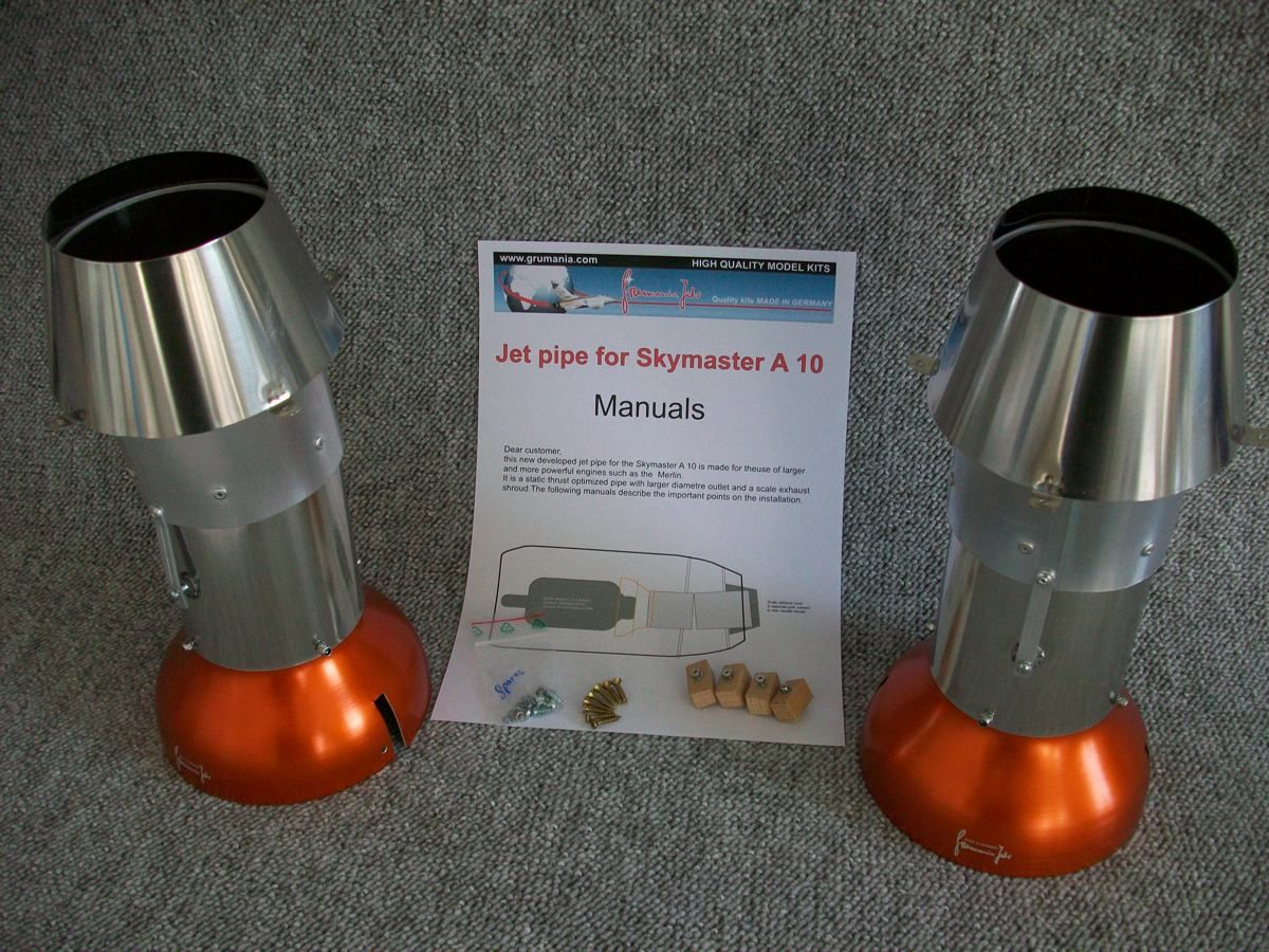 Jet Pipe for A-10 Skymaster (set 2 pcs)
