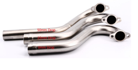 Solid Headers for Single Cylinder DA-60 Solid 50mm drop