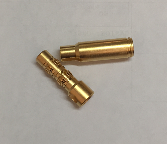 Connectors banana oro 6,0 mm Ultralight (M/F)