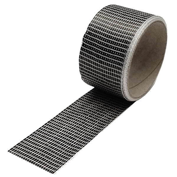 Carbon fibre tape 125 g/m², 3k, UD (50 mm) roll/ 10 m